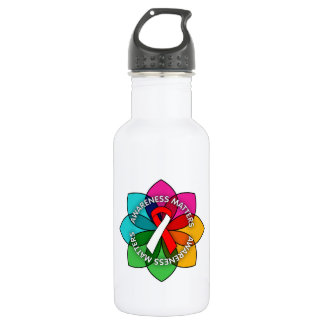 Squamous Cell Carcinoma Awareness Matters Petals 18oz Water Bottle