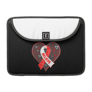 Squamous Cell Carcinoma Believe Ribbon Heart MacBook Pro Sleeves