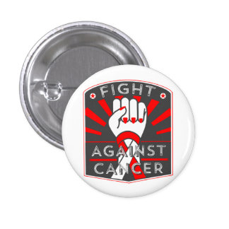 Squamous Cell Carcinoma Fight Against Cancer 1 Inch Round Button