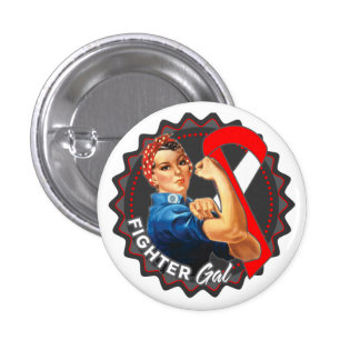 Squamous Cell Carcinoma Fighter Gal 1 Inch Round Button