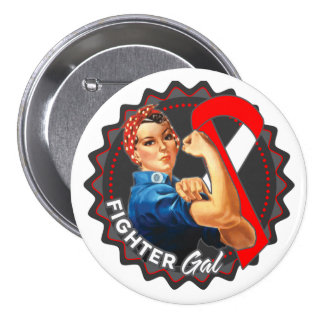 Squamous Cell Carcinoma Fighter Gal 3 Inch Round Button