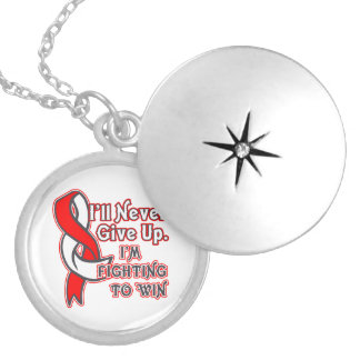 Squamous Cell Carcinoma Fighting To Win Round Locket Necklace