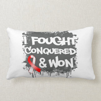 Squamous Cell Carcinoma I Fought Conquered Won Throw Pillow