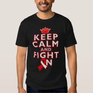 Squamous Cell Carcinoma Keep Calm Fight On Tee Shirt