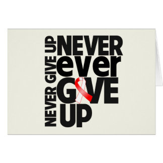 Squamous Cell Carcinoma Never Ever Give Up Greeting Card