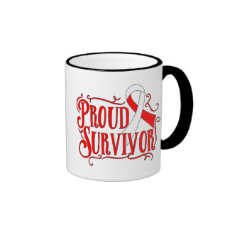 Squamous Cell Carcinoma Proud Survivor Ringer Coffee Mug