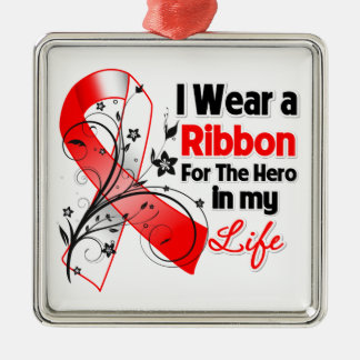 Squamous Cell Carcinoma Ribbon Hero in My Life Christmas Ornament