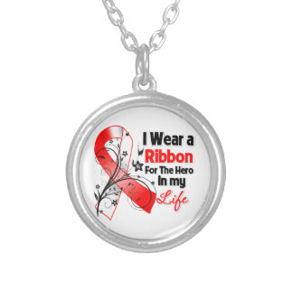 Squamous Cell Carcinoma Ribbon Hero in My Life Round Pendant Necklace
