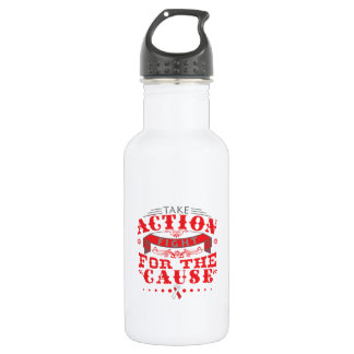 Squamous Cell Carcinoma Take Action Fight 18oz Water Bottle