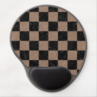 SQUARE1 BLACK MARBLE & BROWN COLORED PENCIL GEL MOUSE PAD