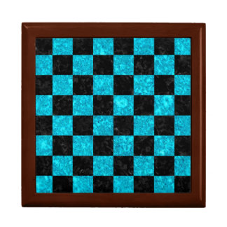 SQUARE1 BLACK MARBLE & TURQUOISE MARBLE GIFT BOX