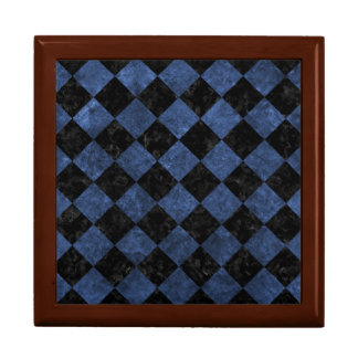 SQUARE2 BLACK MARBLE & BLUE STONE JEWELRY BOX