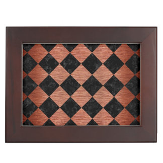 SQUARE2 BLACK MARBLE & COPPER BRUSHED METAL MEMORY BOX
