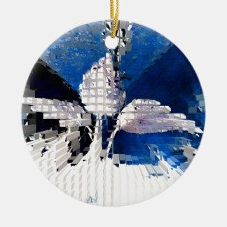 Square #2 design ceramic ornament