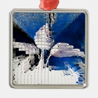 Square #2 design metal ornament