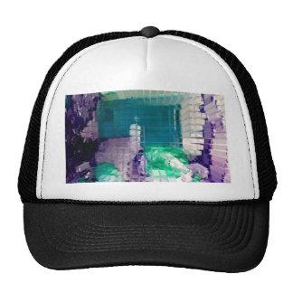 Square #4 design trucker hat