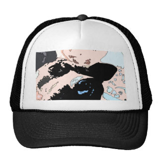 Square #5 design trucker hat