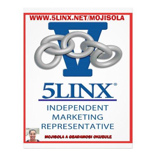SQUARE  5 linx logo by mojisola a gbadamosi 45.... Flyer