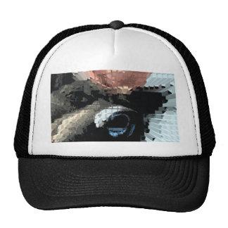 Square #6 design trucker hat