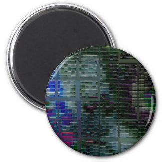 Square #7 design magnet