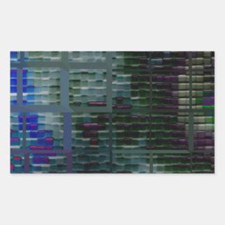 Square #7 design rectangular sticker