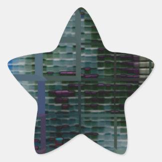 Square #7 design star sticker