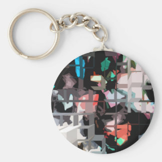 Square #8 design keychain