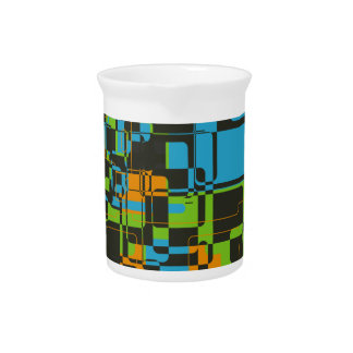 Square abstract background drink pitcher