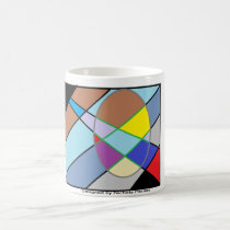Square abstract design coffee mug
