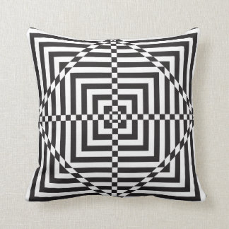 square abstract hypnotic target throw pillow