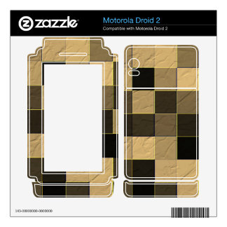Square abstract pattern skin for motorola droid 2