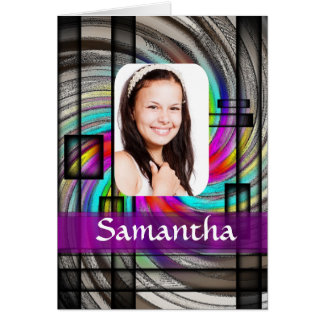 Square abstract photo template card