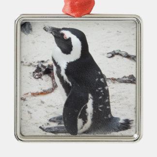 Square adornment Superior Penguins Metal Ornament