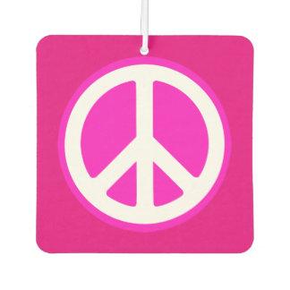 Square Air Freshener/Peace Sign Car Air Freshener