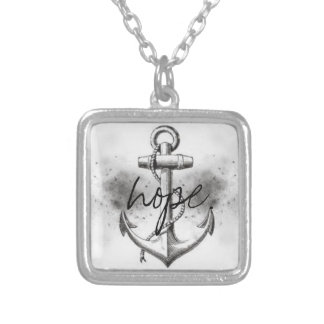 Square Anchor Hope Pendants
