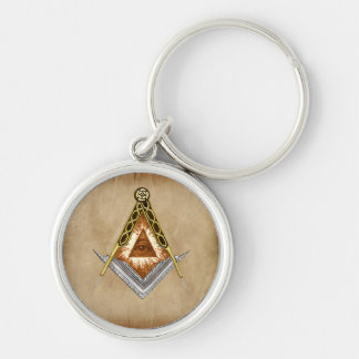 Square and Compass All Seeing Eye Keychain