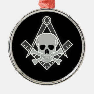 Square and Compass All Seeing Eye Metal Ornament