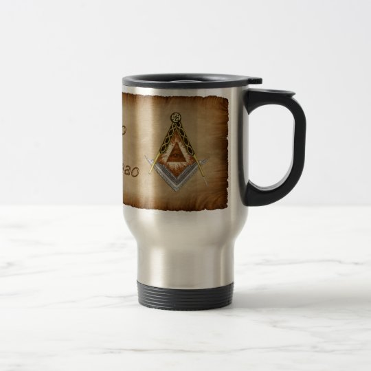 Square and Compass All Seeing Eye Travel Mug