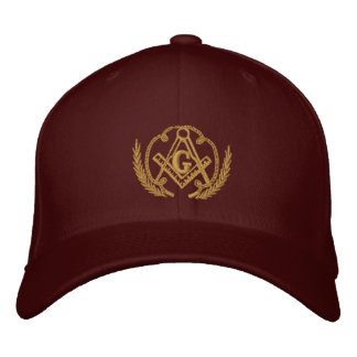 Square and Compass Embroidered Baseball Cap