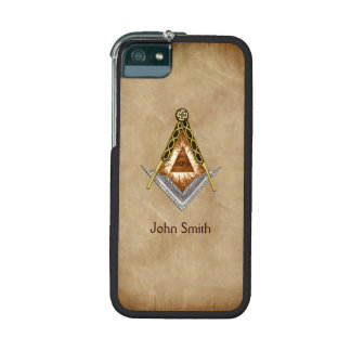 Square and Compass with All Seeing Eye iPhone 5 Case