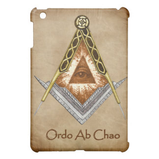 Square and Compass with All Seeing Eye Cover For The iPad Mini