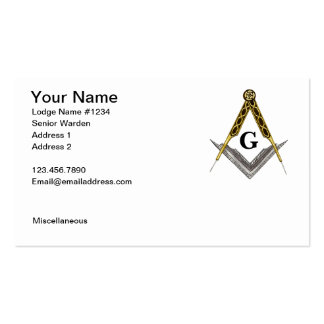 Square and Compass with All Seeing Eye Double-Sided Standard Business Cards (Pack Of 100)