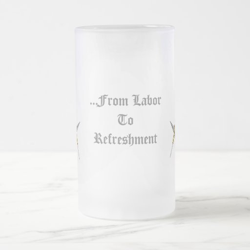 Square and Compass with All Seeing Eye Frosted Glass Beer Mug