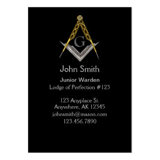 Square and Compass with All Seeing Eye Large Business Card