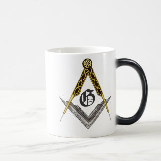 Square and Compass with All Seeing Eye 11 Oz Magic Heat Color-Changing Coffee Mug