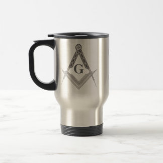 Square and Compass with All Seeing Eye 15 Oz Stainless Steel Travel Mug