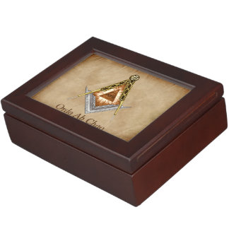 Square and Compass with All Seeing Eye Keepsake Boxes