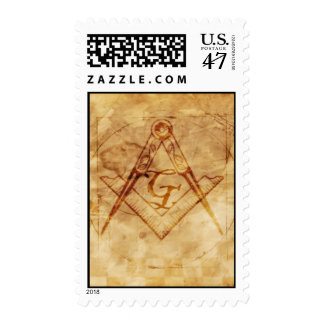 Square and Compass with All Seeing Eye Postage