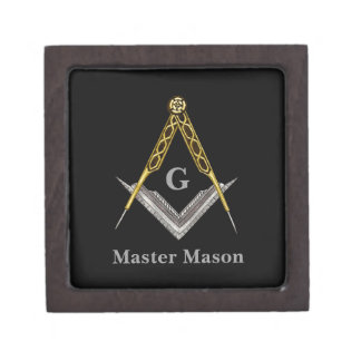 Square and Compass with All Seeing Eye Premium Gift Boxes