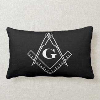 Square and Compass with Inset G Lumbar Pillow